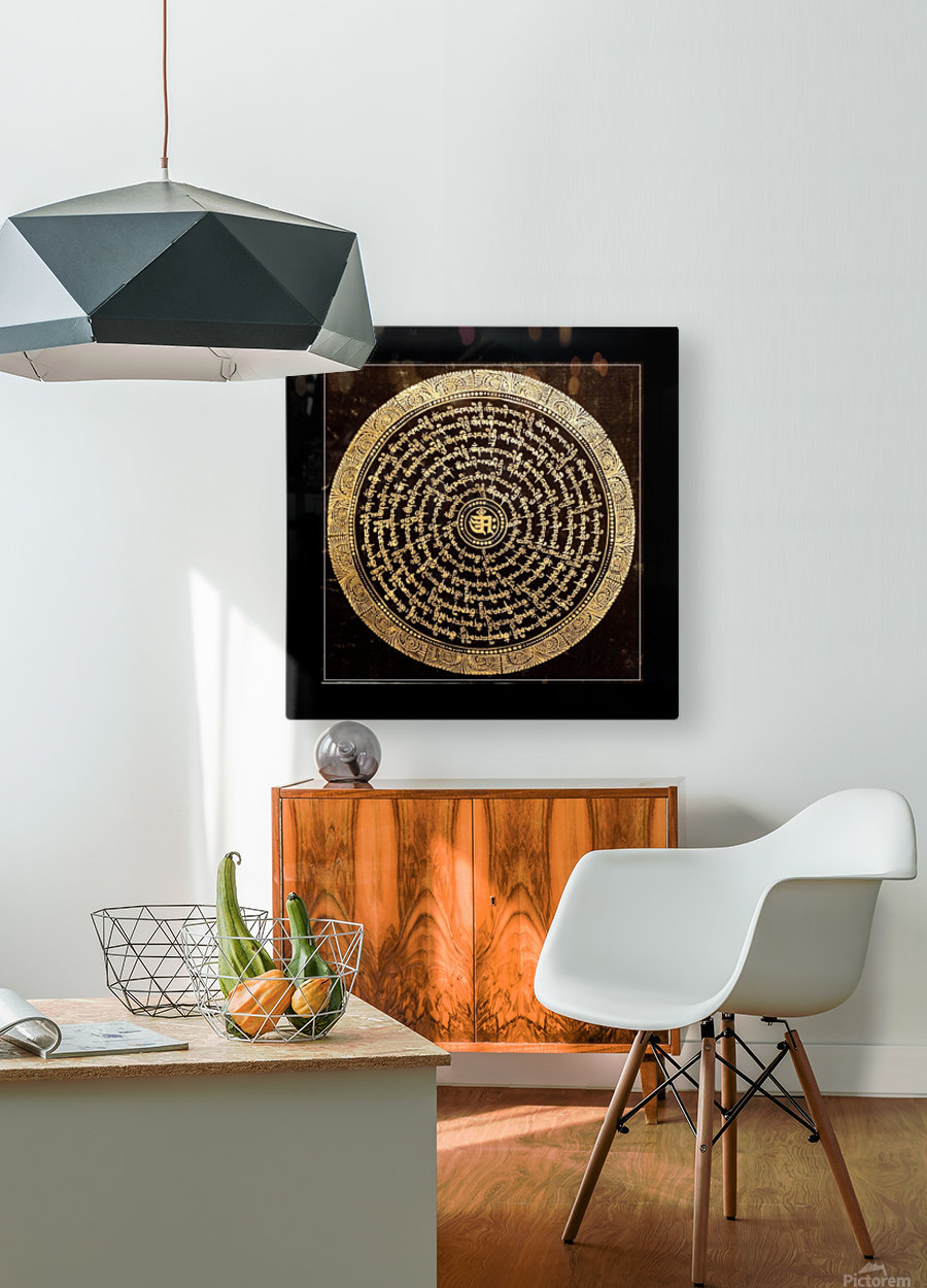 Nepali Goldwork: Serenity  HD Metal print with Floating Frame on Back