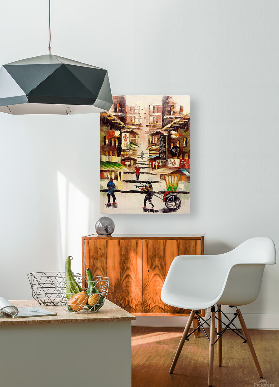 Hong Kong Soho  HD Metal print with Floating Frame on Back