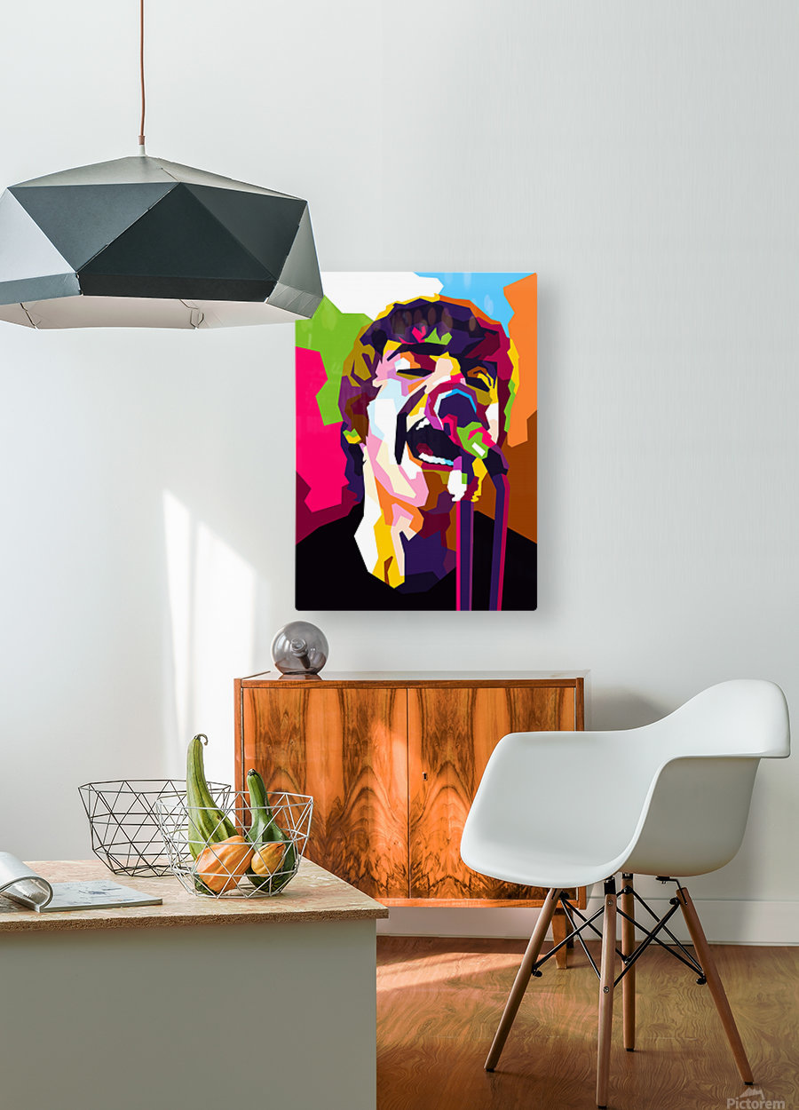 Liam Gallagher  HD Metal print with Floating Frame on Back