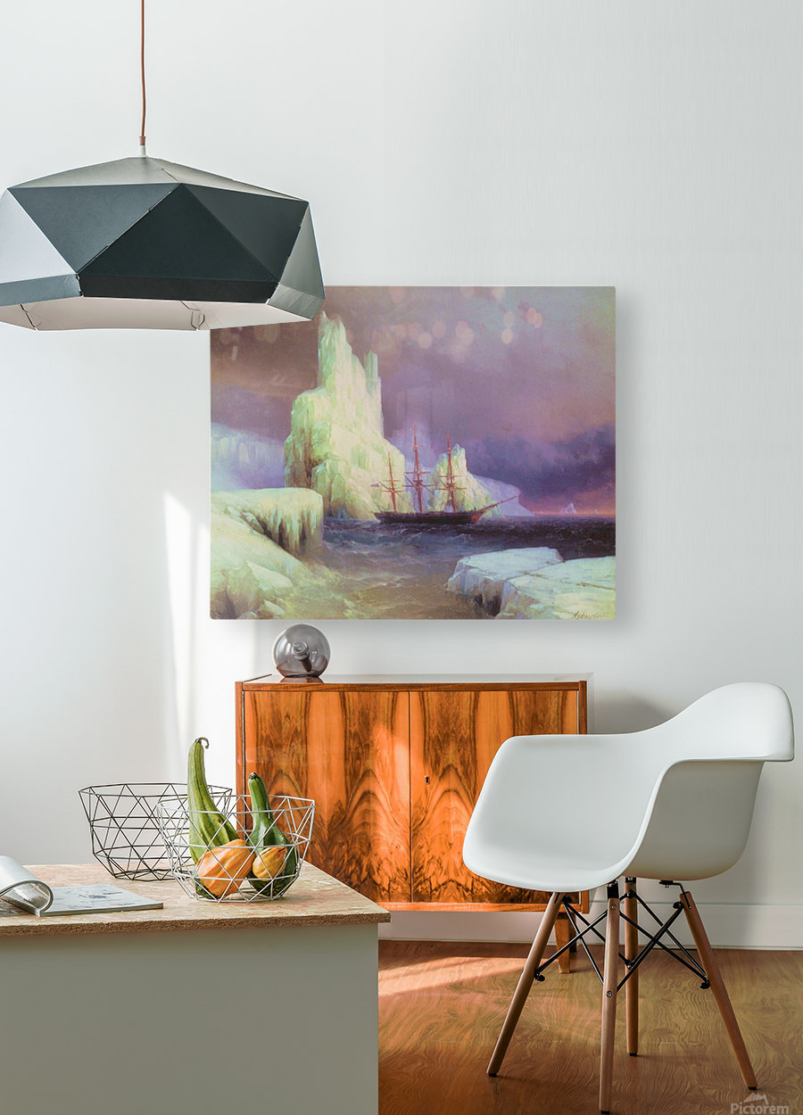 Icebergs in Antarctica  HD Metal print with Floating Frame on Back