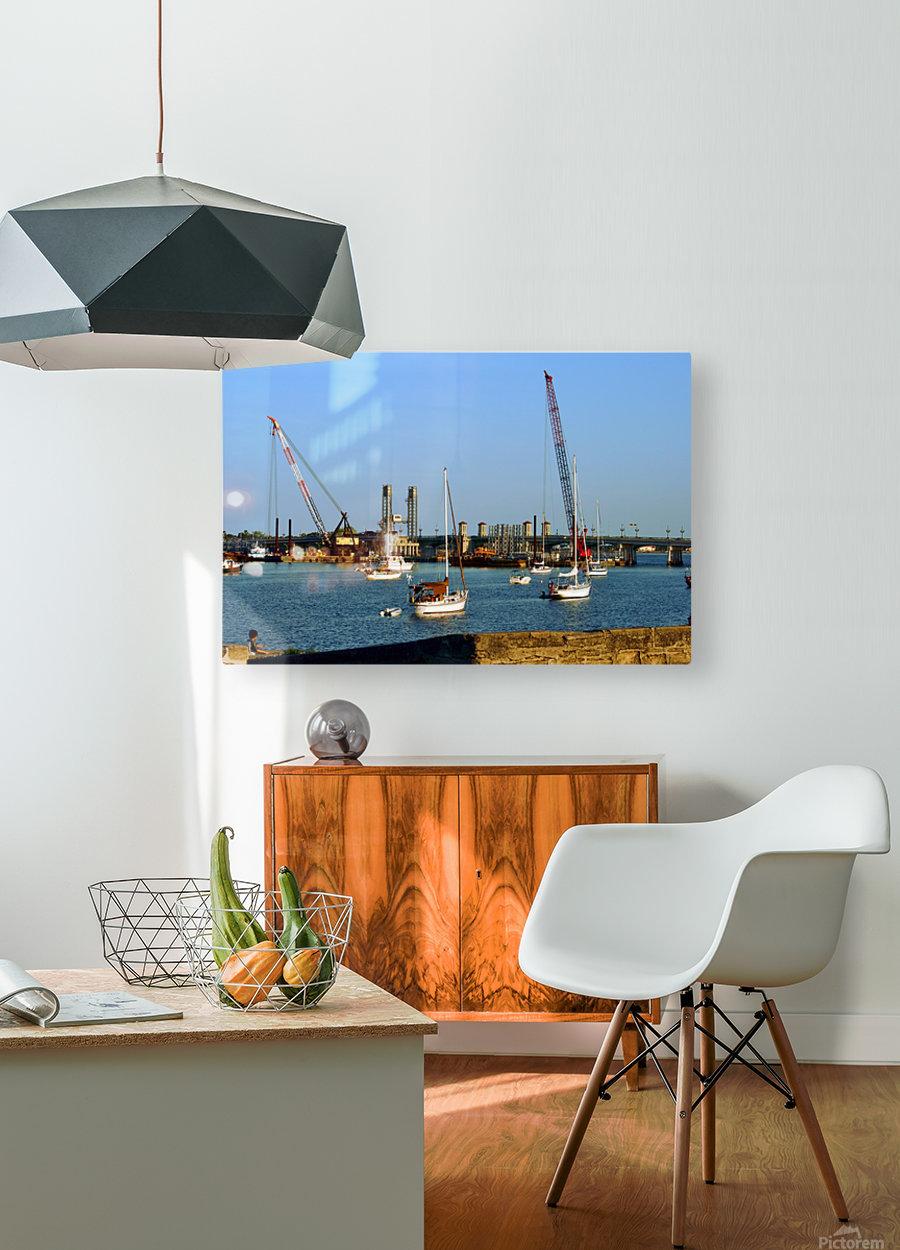 walmart 158  HD Metal print with Floating Frame on Back