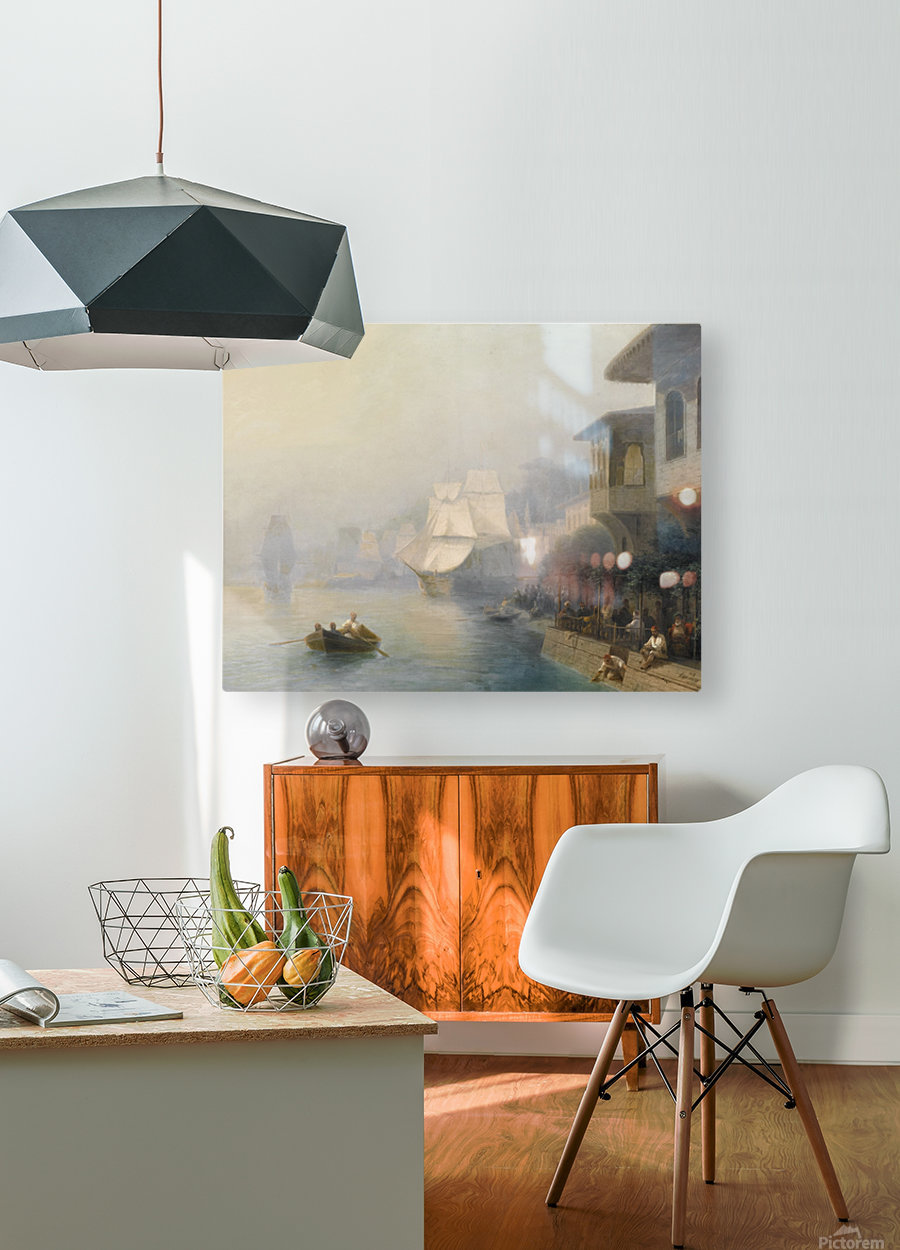View of the Bosporus  HD Metal print with Floating Frame on Back