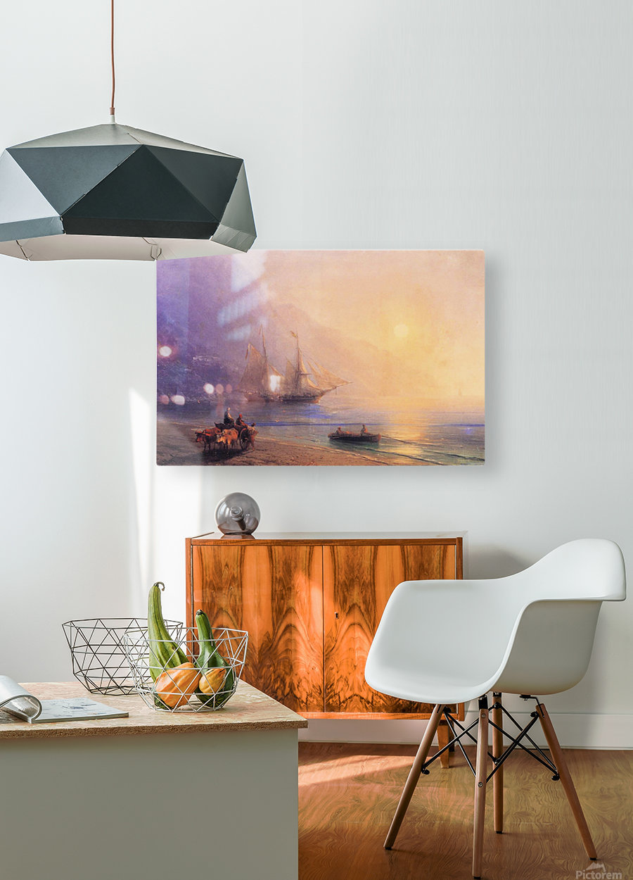 Loading Provisions off the Crimean Coast  HD Metal print with Floating Frame on Back