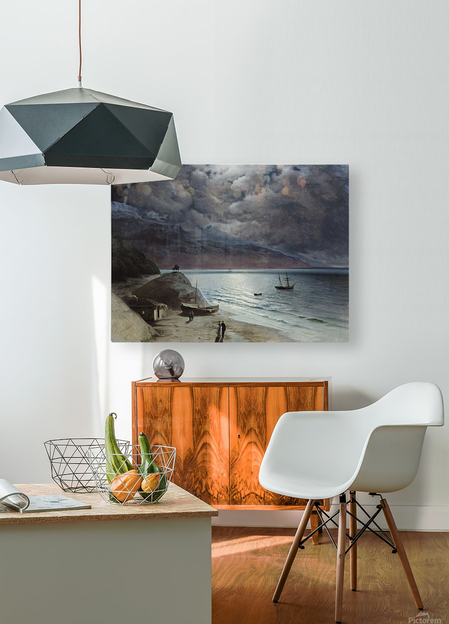 Watching the sea  HD Metal print with Floating Frame on Back