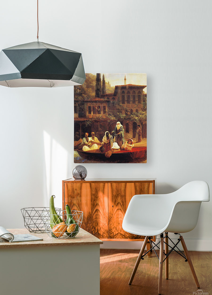 Boat Ride by Kumkapi in Constantinople  HD Metal print with Floating Frame on Back