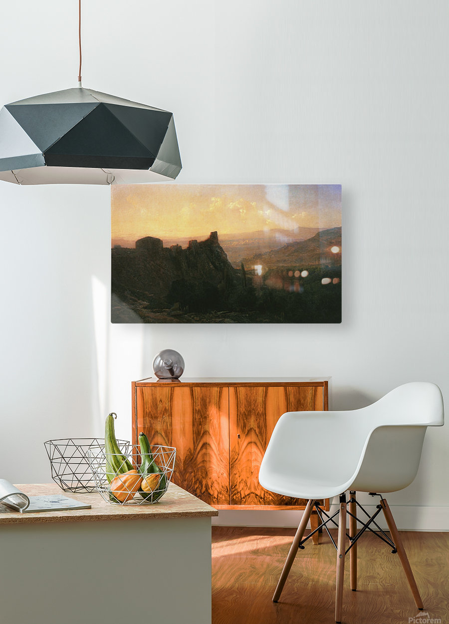 View of Tiflis  HD Metal print with Floating Frame on Back