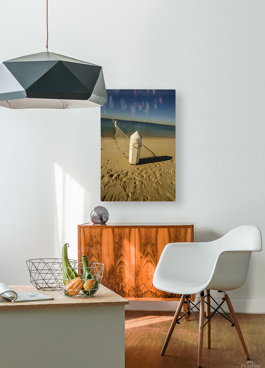 Shark Net Corner Post Perspective Brighton le Sands Australia.  HD Metal print with Floating Frame on Back