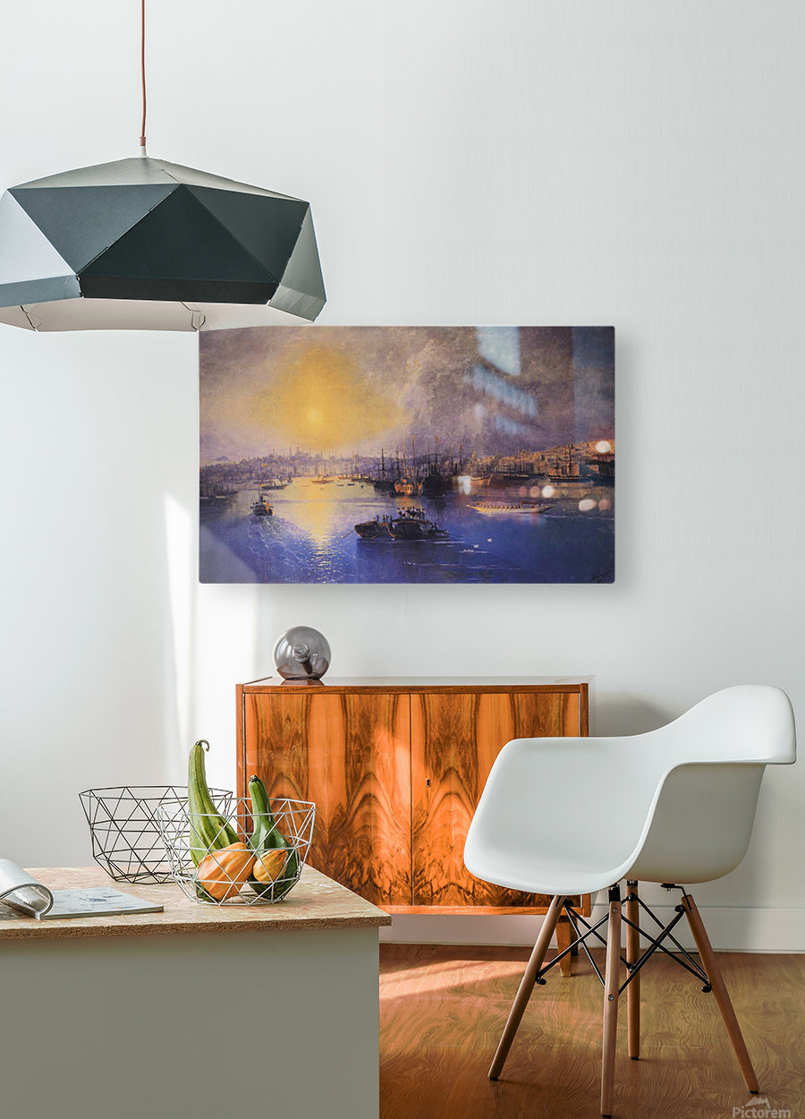 Constantinople Sunset  HD Metal print with Floating Frame on Back