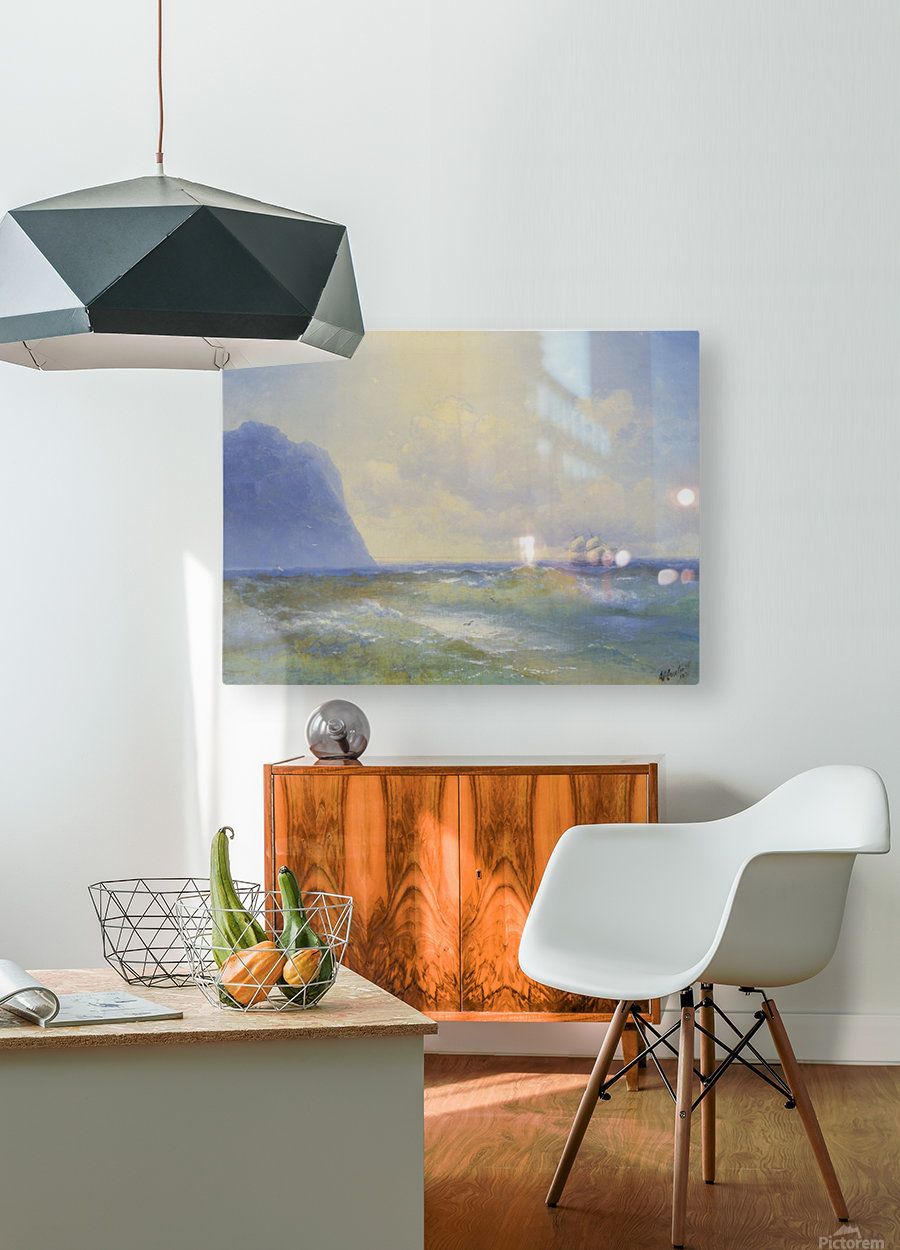 Sun on the sea  HD Metal print with Floating Frame on Back