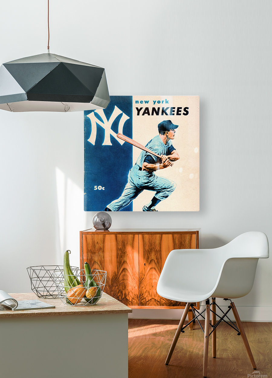 1956 New York Yankees Yearbook Wall Art  HD Metal print with Floating Frame on Back