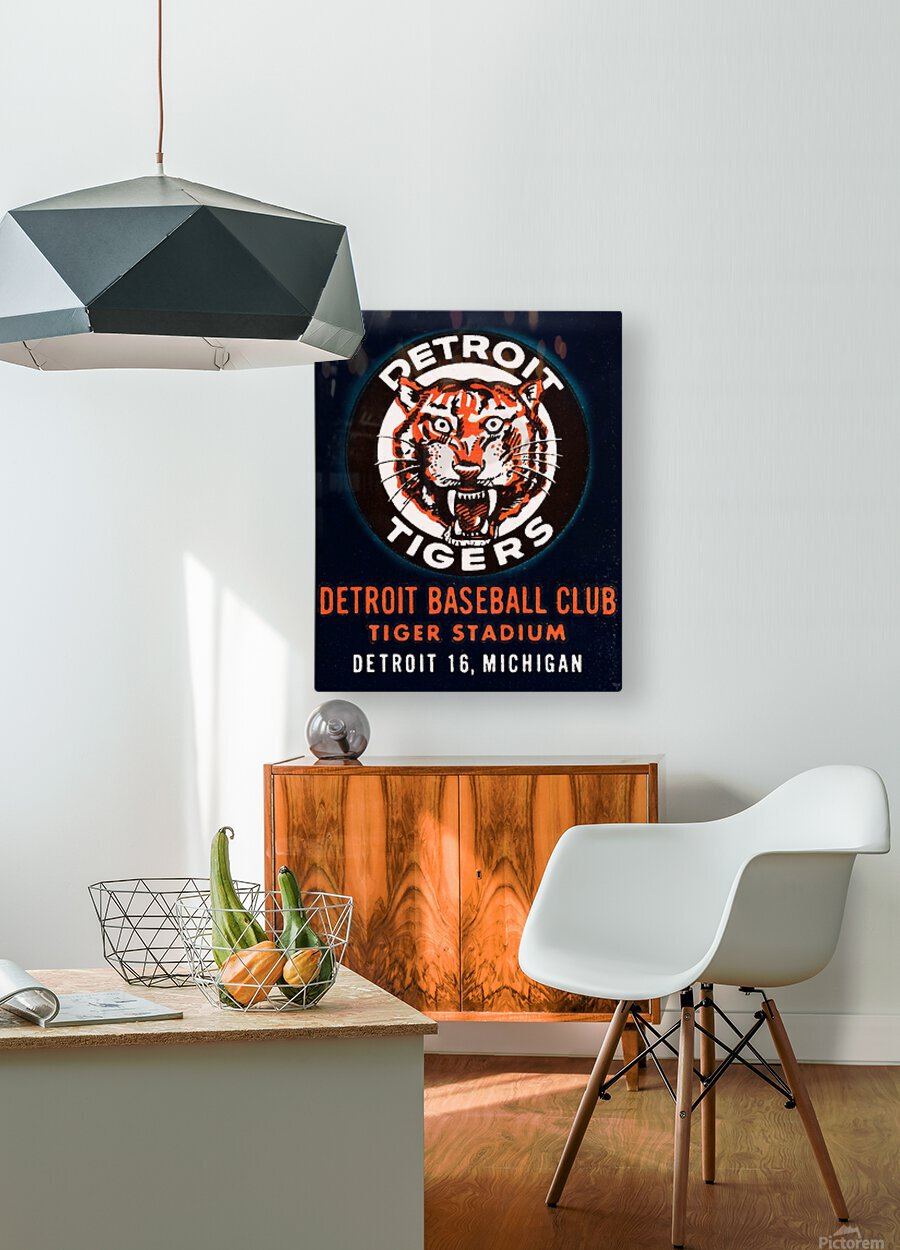 1963 Detroit Tigers Vintage Baseball Club  HD Metal print with Floating Frame on Back
