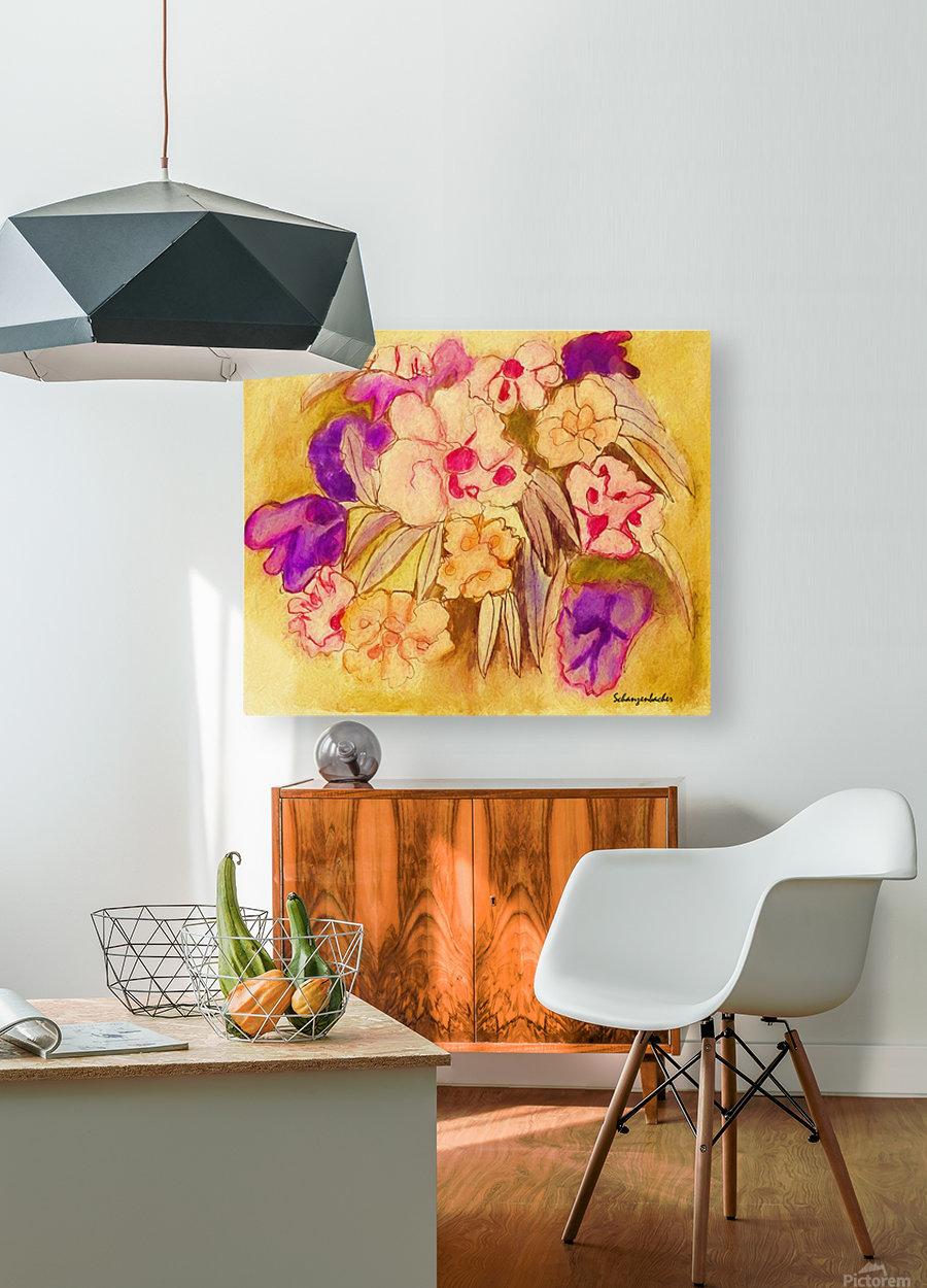 Pansies  HD Metal print with Floating Frame on Back