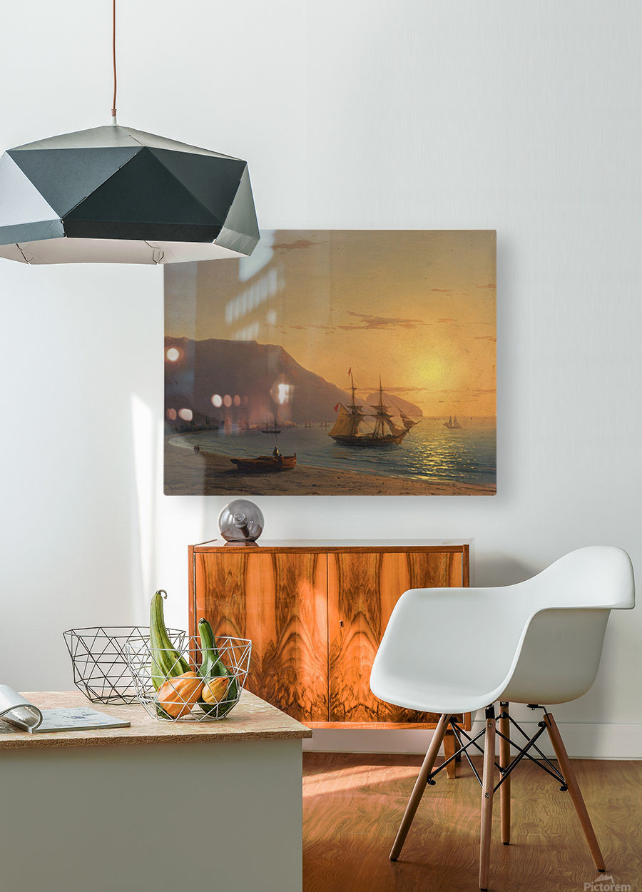 Sunset in Crimea  HD Metal print with Floating Frame on Back
