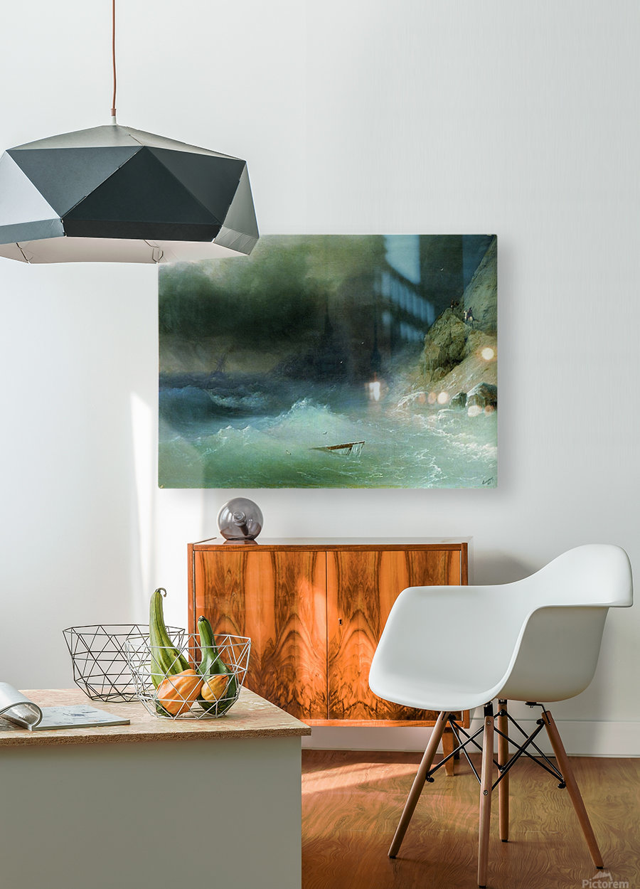 The Tempest near rocks  HD Metal print with Floating Frame on Back