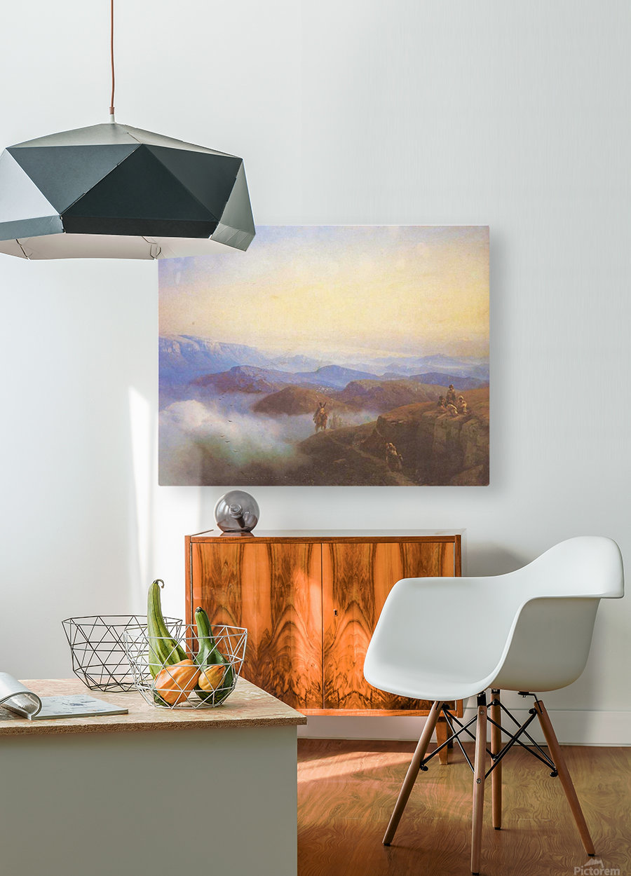 Range of the Caucasus mountains  HD Metal print with Floating Frame on Back