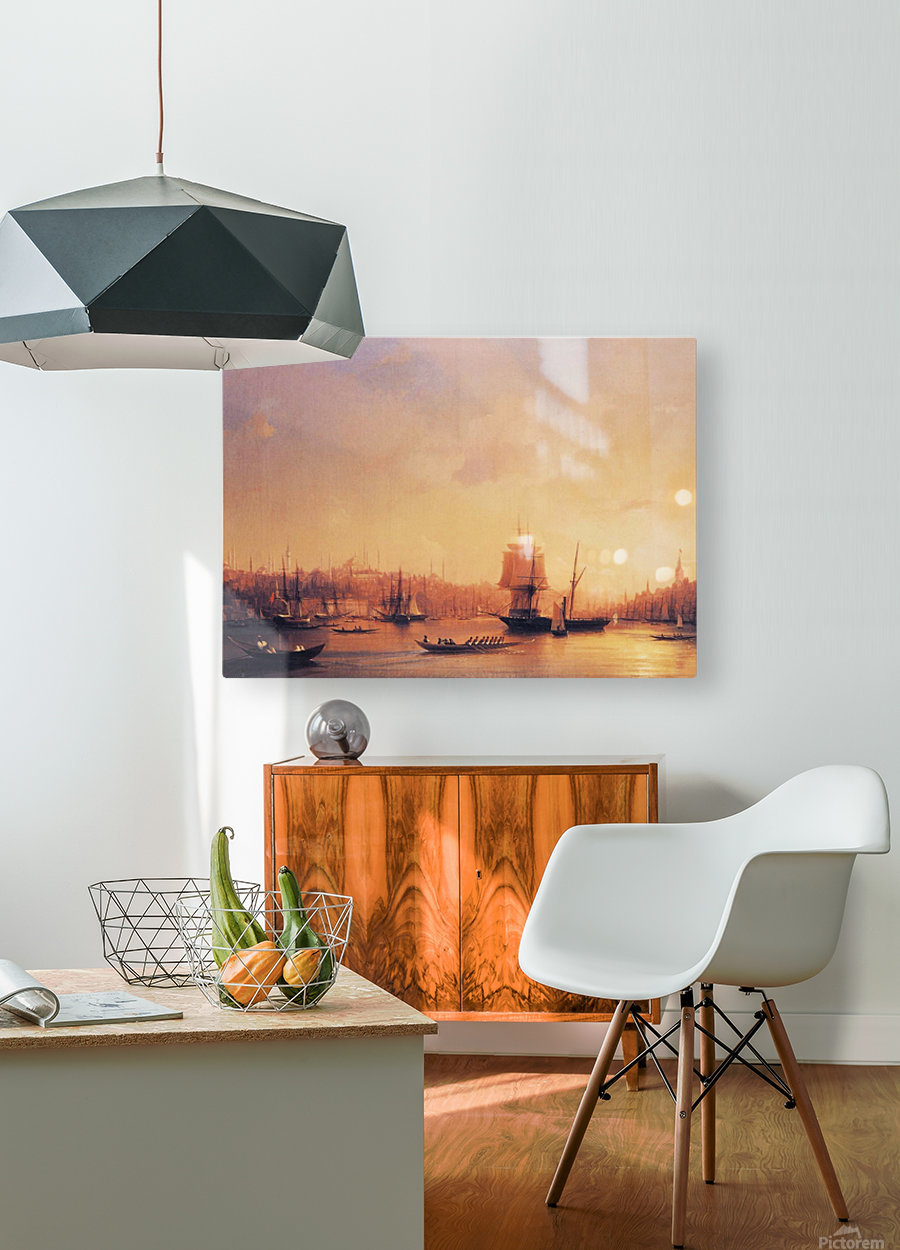 Dusk on the Golden Horn  HD Metal print with Floating Frame on Back