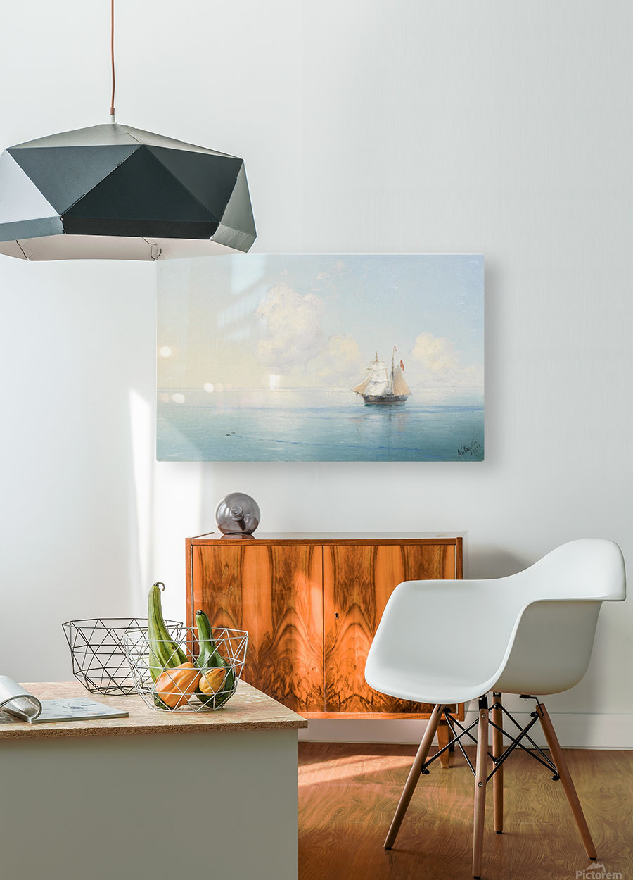 A Calm Morning at Sea  HD Metal print with Floating Frame on Back