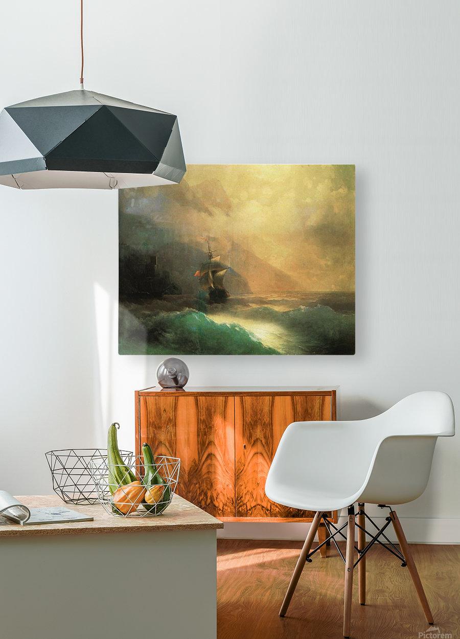 Marine landscape Sea  HD Metal print with Floating Frame on Back