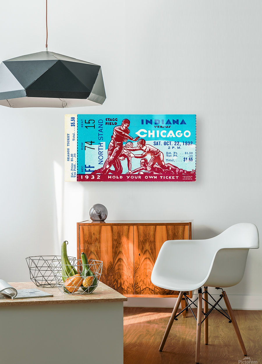 1932 Indiana vs. Chicago  HD Metal print with Floating Frame on Back