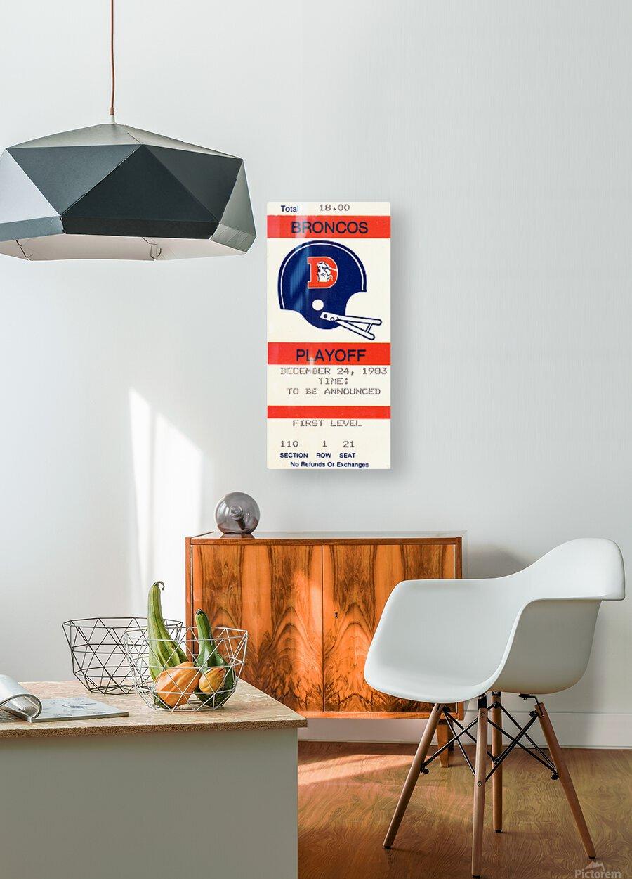 1983 Denver Broncos Football Ticket Stub   HD Metal print with Floating Frame on Back