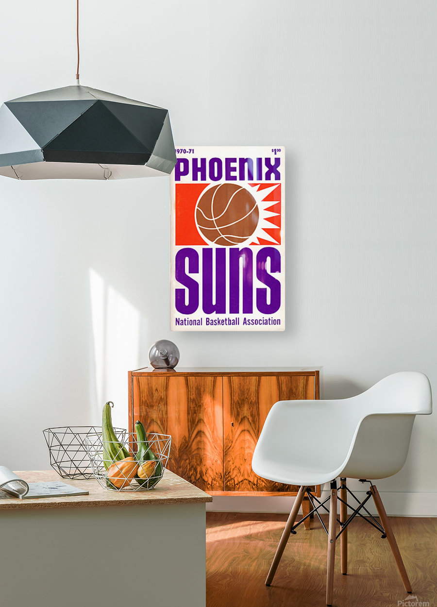 1970 Phoenix Suns  HD Metal print with Floating Frame on Back
