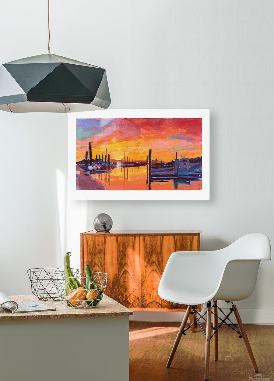 Bodega Bay Sunset  HD Metal print with Floating Frame on Back