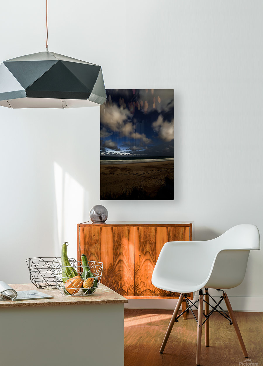 Shadow of the Palm   HD Metal print with Floating Frame on Back