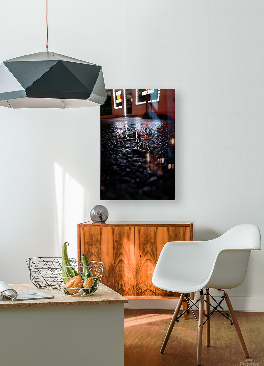 Reflect Drip Woo  HD Metal print with Floating Frame on Back