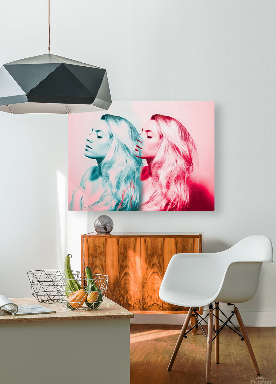 Double Vision  HD Metal print with Floating Frame on Back