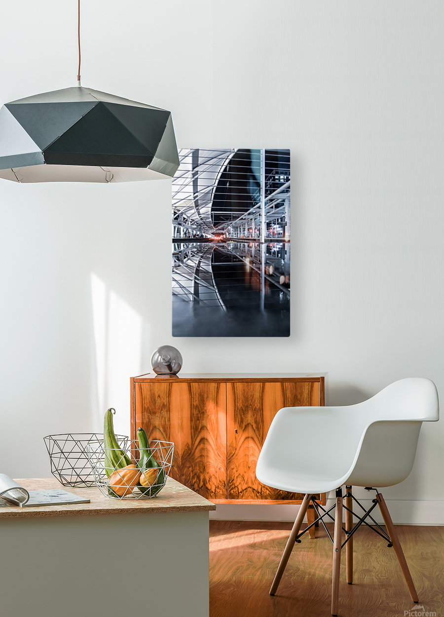 Union Station Reflection  HD Metal print with Floating Frame on Back