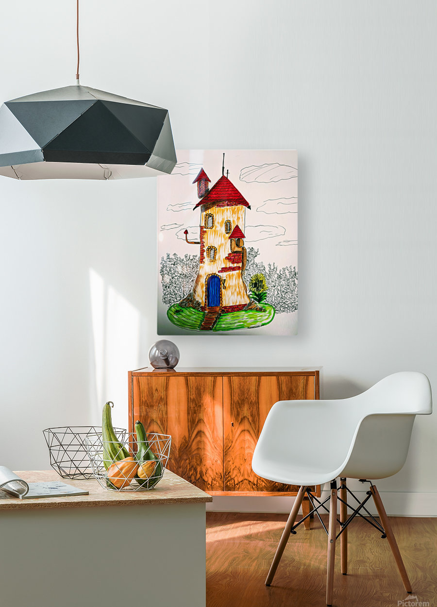 Wizard Tower  HD Metal print with Floating Frame on Back