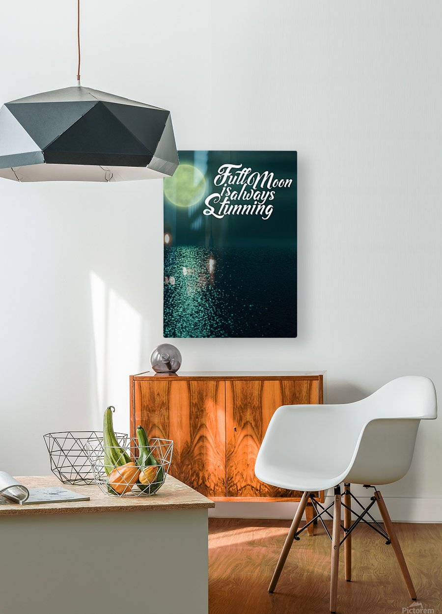 Full Moon is always Stunning  HD Metal print with Floating Frame on Back