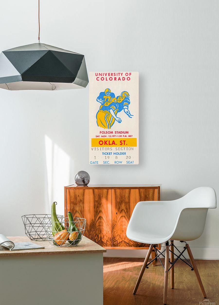 1971 Oklahoma State vs. Colorado  HD Metal print with Floating Frame on Back