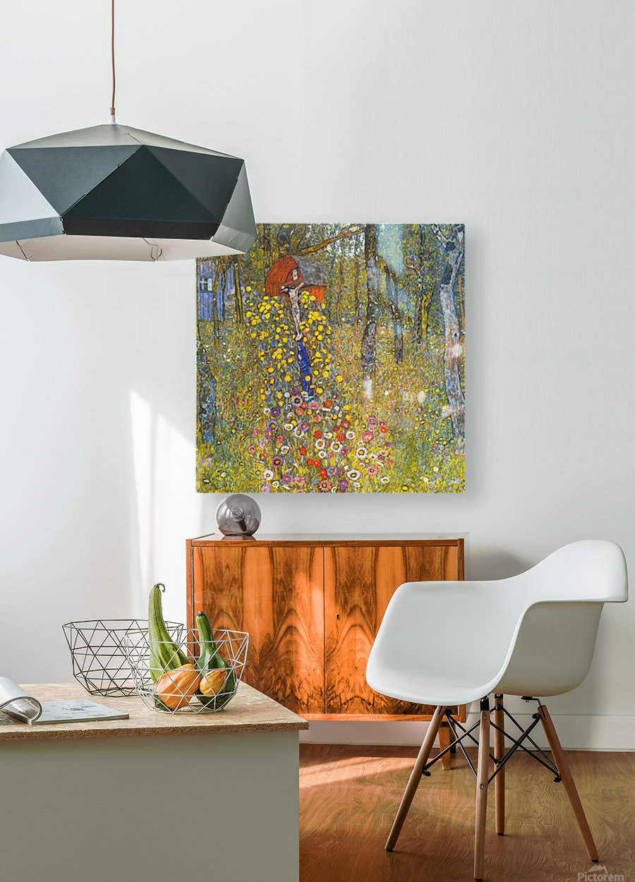 Farmers garden with crucifix by Klimt  HD Metal print with Floating Frame on Back