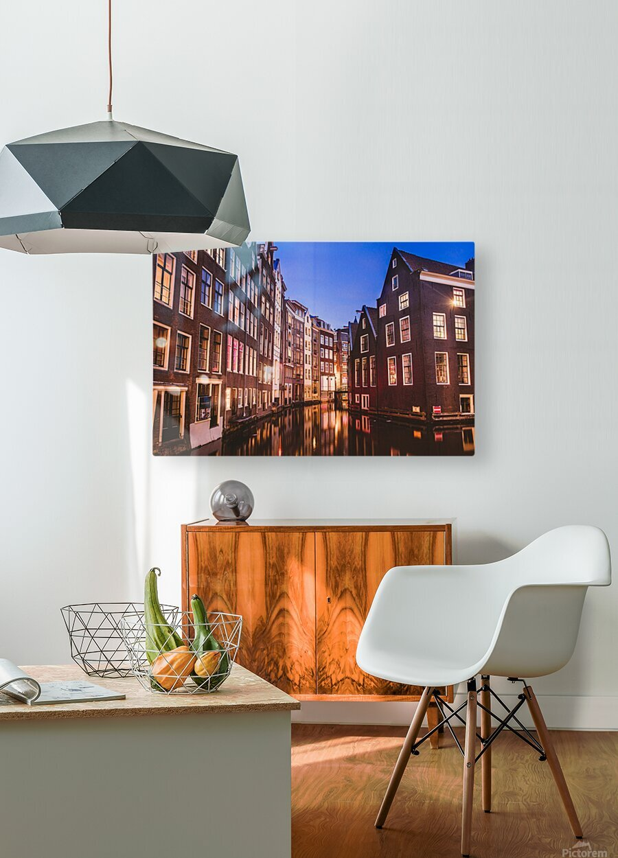 Amsterdam Lights  HD Metal print with Floating Frame on Back