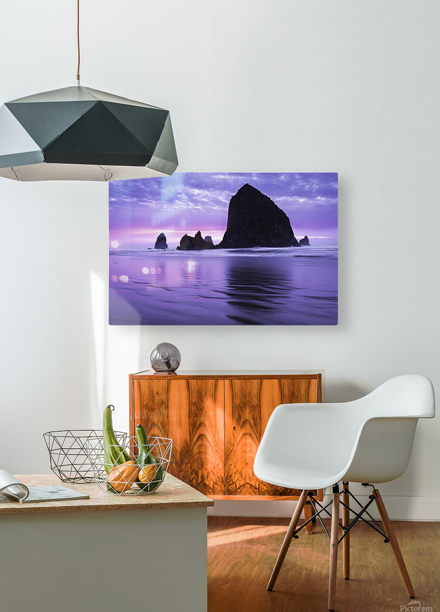 The 1 minute color gap  HD Metal print with Floating Frame on Back
