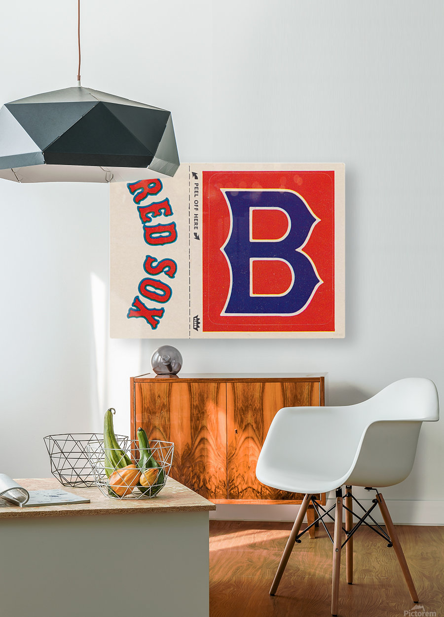 1978 Boston Red Sox Fleer Decal Reproduction 1200 DPI Scan Art by Row One™  HD Metal print with Floating Frame on Back