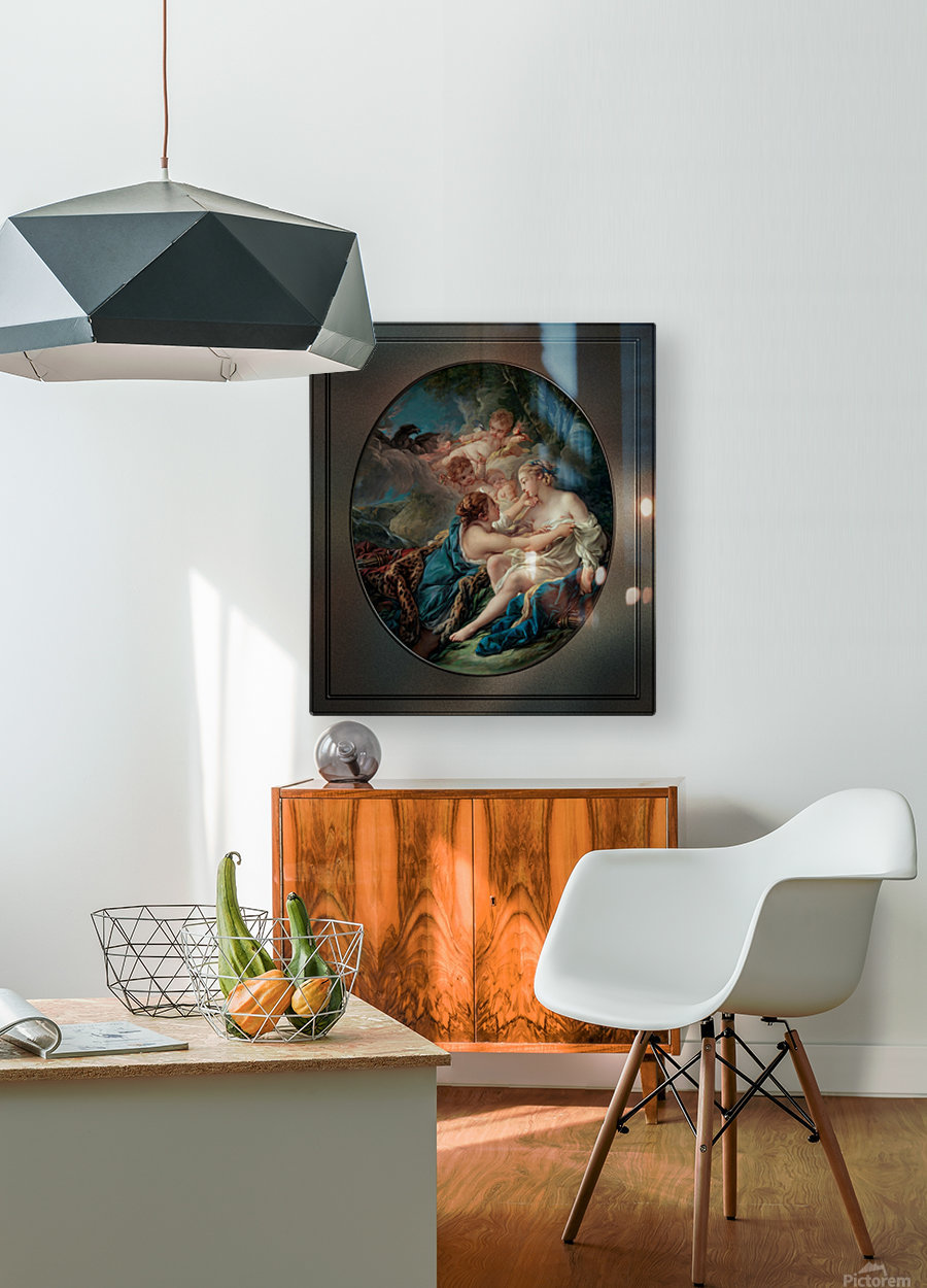 Jupiter In The Guise Of Diana And Callisto by Francois Boucher  HD Metal print with Floating Frame on Back