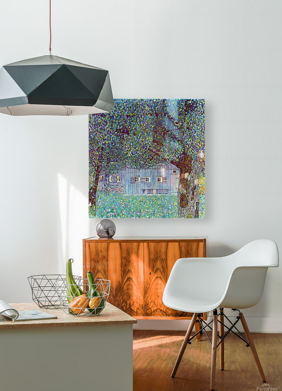 Farmhouse in Upper Austria by Klimt  HD Metal print with Floating Frame on Back