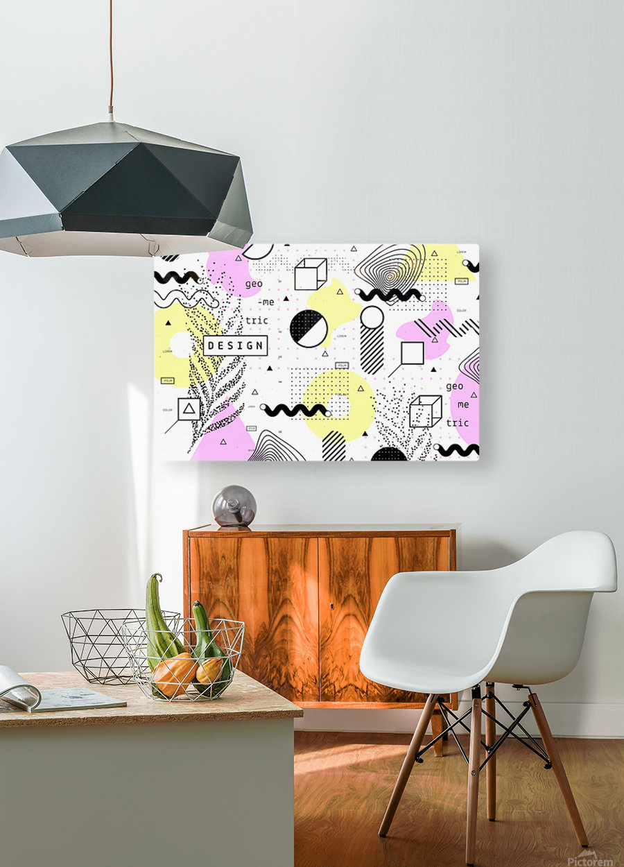 graphic design geometric background  HD Metal print with Floating Frame on Back