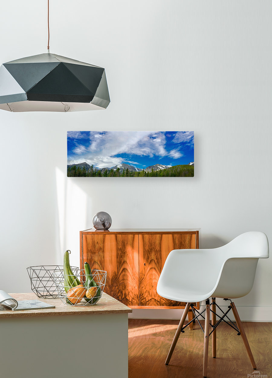 Rocky Mountain Range  HD Metal print with Floating Frame on Back
