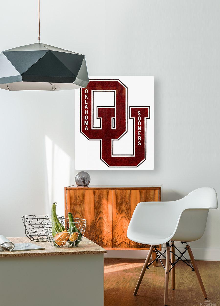 1960 OU Oklahoma Sooners art  HD Metal print with Floating Frame on Back
