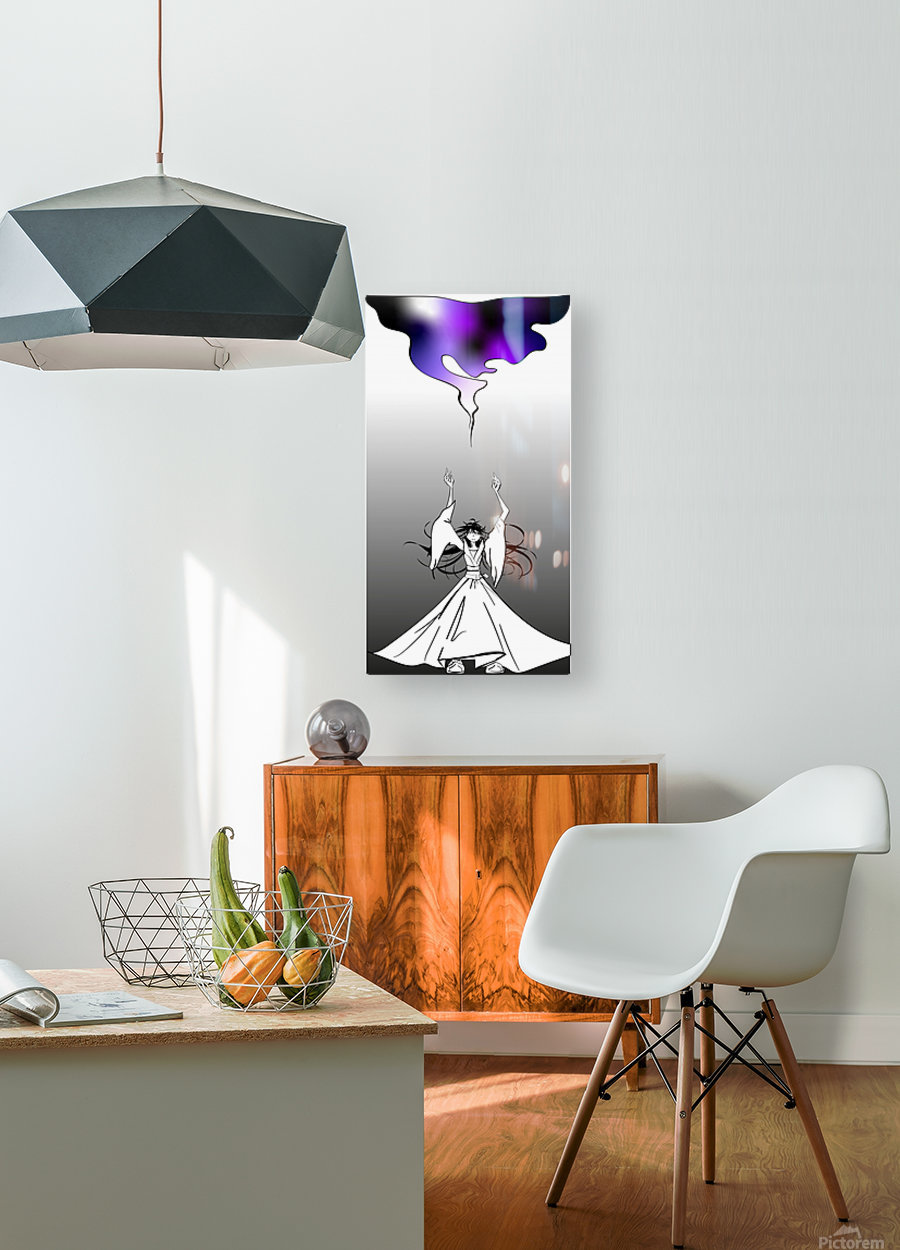 magic  HD Metal print with Floating Frame on Back