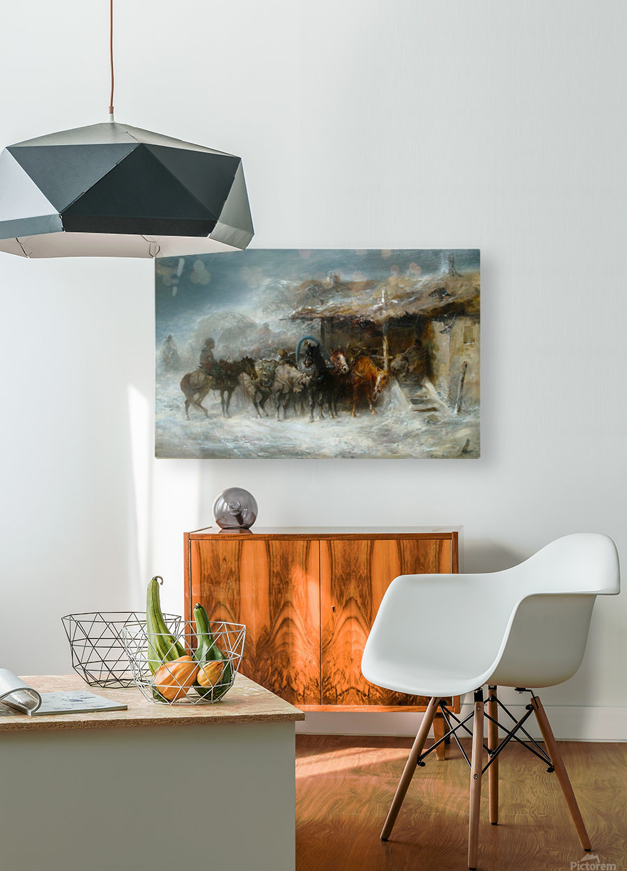 Shelter from the Blizzard  HD Metal print with Floating Frame on Back