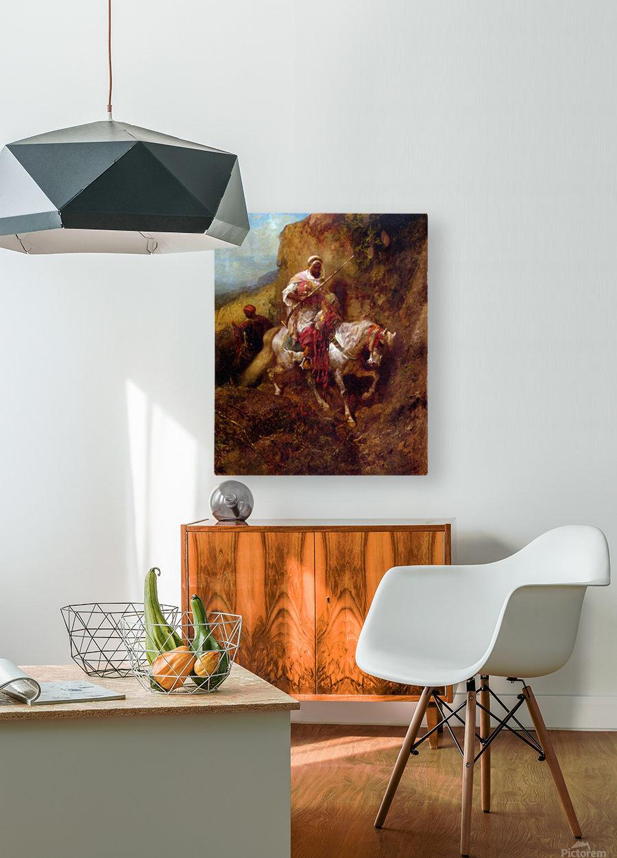 Arab warrior  HD Metal print with Floating Frame on Back