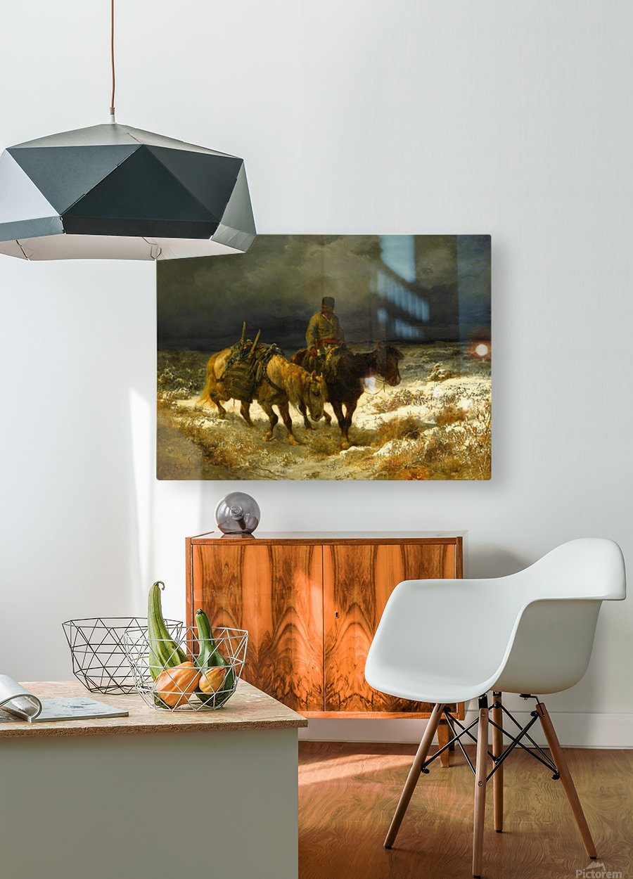 Horseman  HD Metal print with Floating Frame on Back
