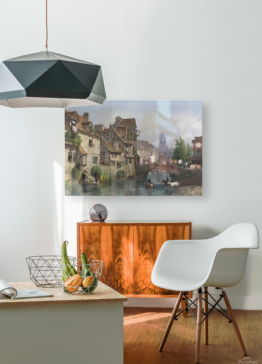 View of Rouen  HD Metal print with Floating Frame on Back