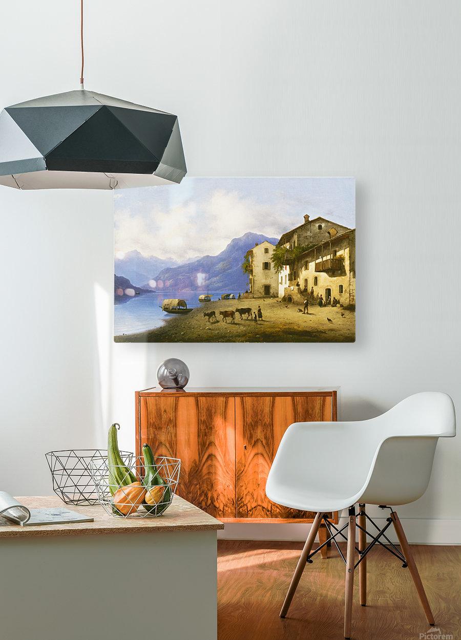 Landscape near Lake Como  HD Metal print with Floating Frame on Back