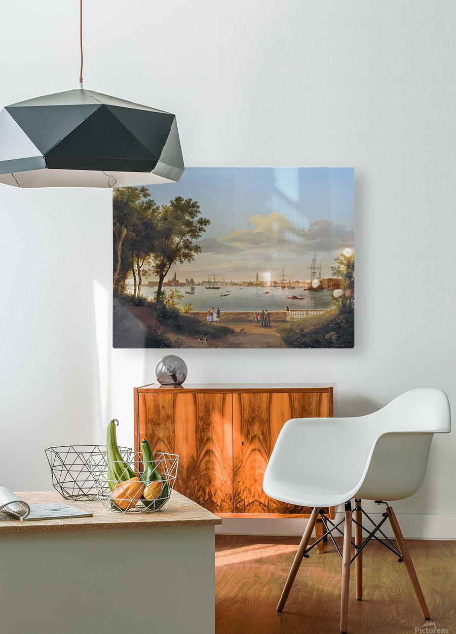 Vue de Venise depuis les Giardini  HD Metal print with Floating Frame on Back