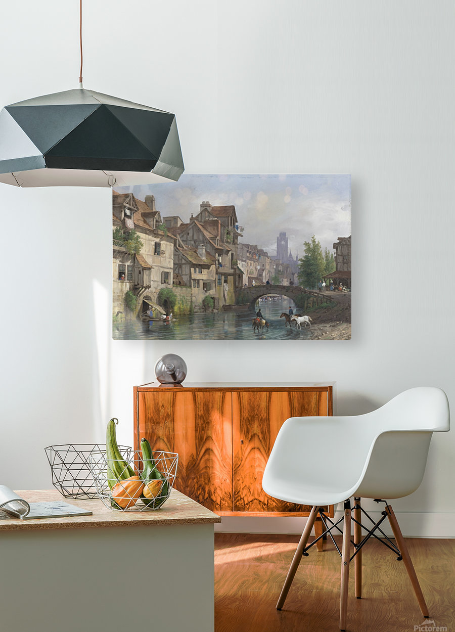 On the river  HD Metal print with Floating Frame on Back